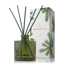 Thymes Frasier Fir Petite Green Glass Reed Diffuser - 4 oz