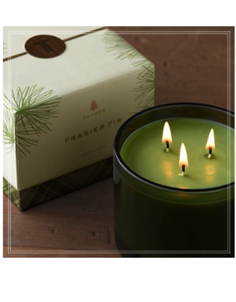 Thymes Frasier Fir Poured 3-Wick Candle - 17 oz