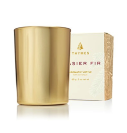 Thymes Frasier Fir Gold Votive Candle - 2 oz