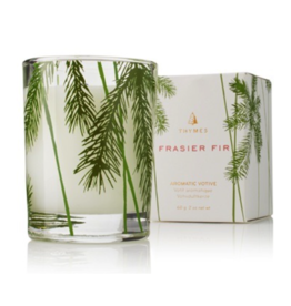 Thymes Frasier Fir Pine Needle Design Votive Candle - 2 oz