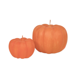"Vance Kitira Unscented Pumpkin Candle - 3.5""x2.5"" - Pumpkin Orange"