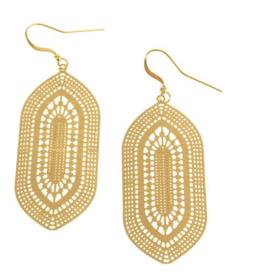 Medallion Earrings - Gold