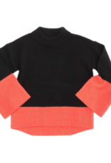 Coral Color Block Sweater -  Small/Medium