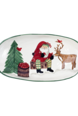 Vietri Old St. Nick 2019 Limited Edition Handled Shallow Oval Bowl
