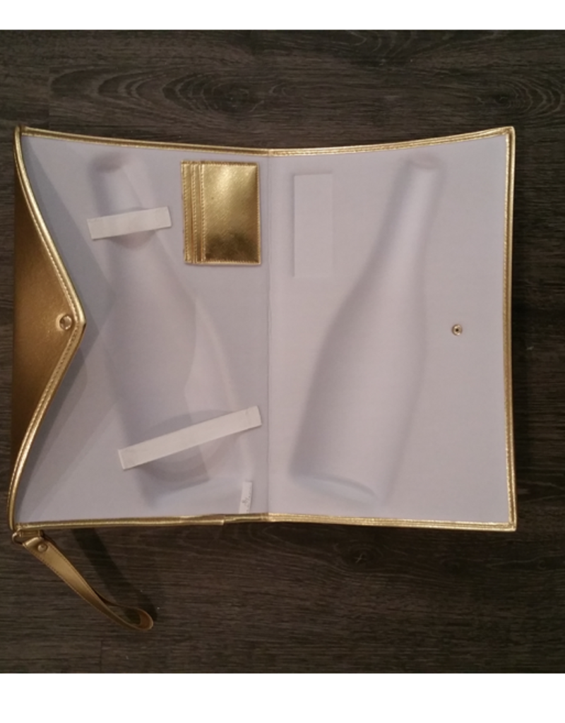 Gold 3D Champagne Pouch - Large