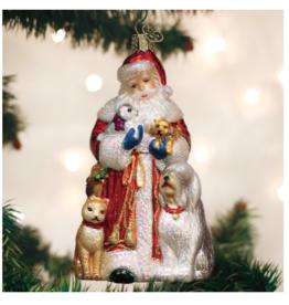 Old World Christmas Santa's Furry Friends Ornament