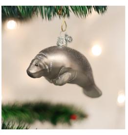 Old World Christmas Manatee Ornament