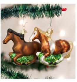 Old World Christmas Mustang Horse Ornament