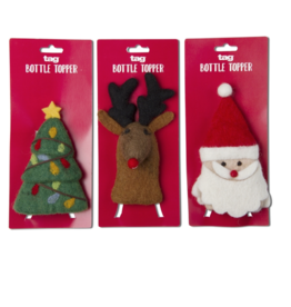 Holiday Bottle Topper - Assorted Styles