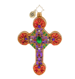 Christopher Radko A Cross, Fit For Royalty Christmas Ornament