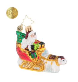 Christopher Radko Polar Bear Run Little Gem Ornament