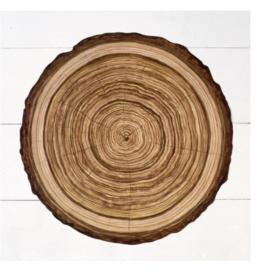 Die Cut Wood Slice Placemat - 12 Sheets