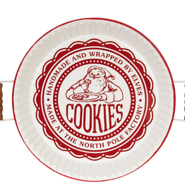 """Red & White Santa's Cookies Tray - 19"""""""