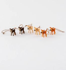 """Plastic Deer Ornament - Set of Six - 1"""""""