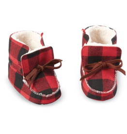 Buffalo Check Booties 0-6 Months