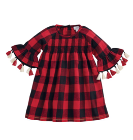 Smocked Buffalo Check Dress - 18 Months