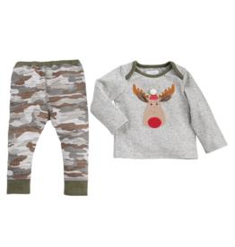 Camo Moose 2 Piece Shirt & Pants Set - 3-6 Months