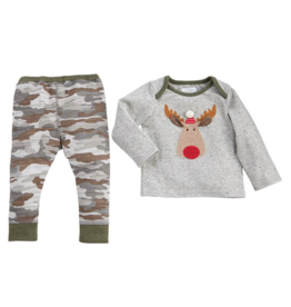 Camo Moose 2 Piece Shirt & Pants Set - 6-9 Months