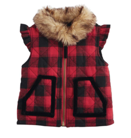 Buffalo Check Girl Vest - 2T-3T