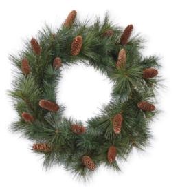 """Pine Cone Wreath - 28""""D"""