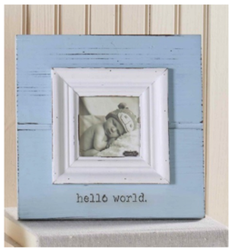 """Hello World"" Frame -  Blue"