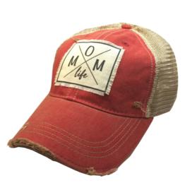 Mom Life - Red Trucker Hat