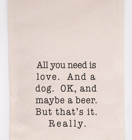 Love and a Dog - Tea Towel