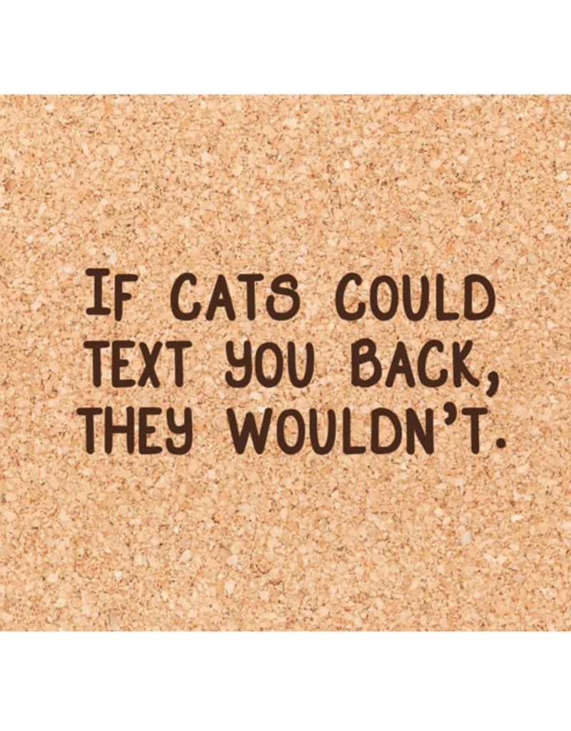 Texting Cats Coaster
