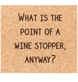 Wine Stopper Coaster