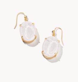 Spartina 449 Mermaid Glass Oval Earrings Sky White/Gold
