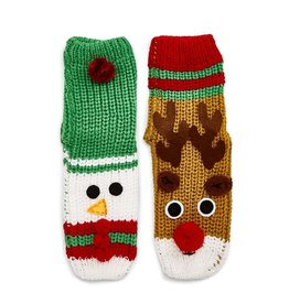Jingle Bell Slipper Socks - Assorted Designs