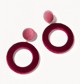 Spartina 449 Velvet Earrings Merlot