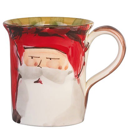 Vietri Old St. Nick Mug - Red Hat