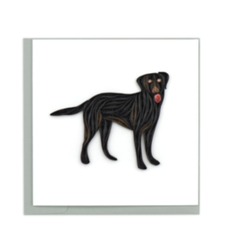Black Lab Quilling Card