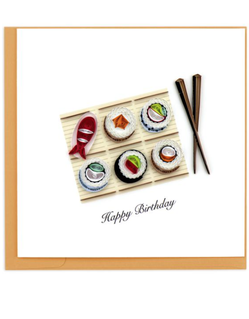 Birthday Sushi Quilling Card
