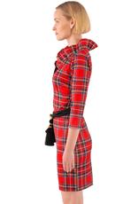Gretchen Scott Jersey Ruffneck Dress - Duke of York Red - Large