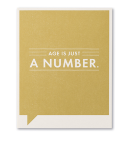 Age is just a number… Birthday Card