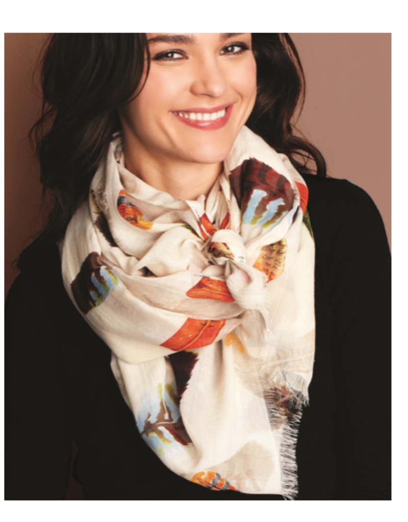 Feather Scarf - Assorted Colors