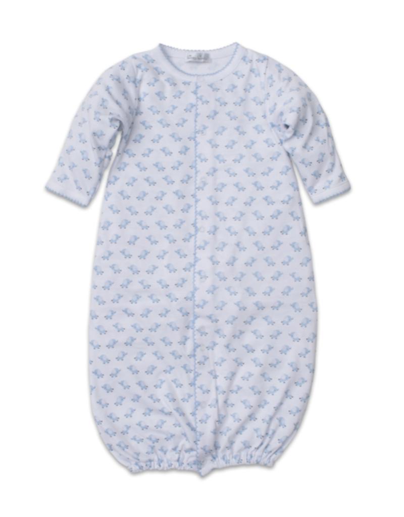 Kissy Kissy Baby Trunks Print Conversion Gown - Light Blue