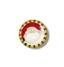 Vietri Old St. Nick Round Salad Plate - Red Hat