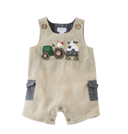 Farmhouse Applique Shortall - 3-6 Months