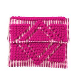Handloom Clutch Pink