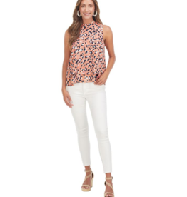 Eleanor Top Peach Leopard - Medium