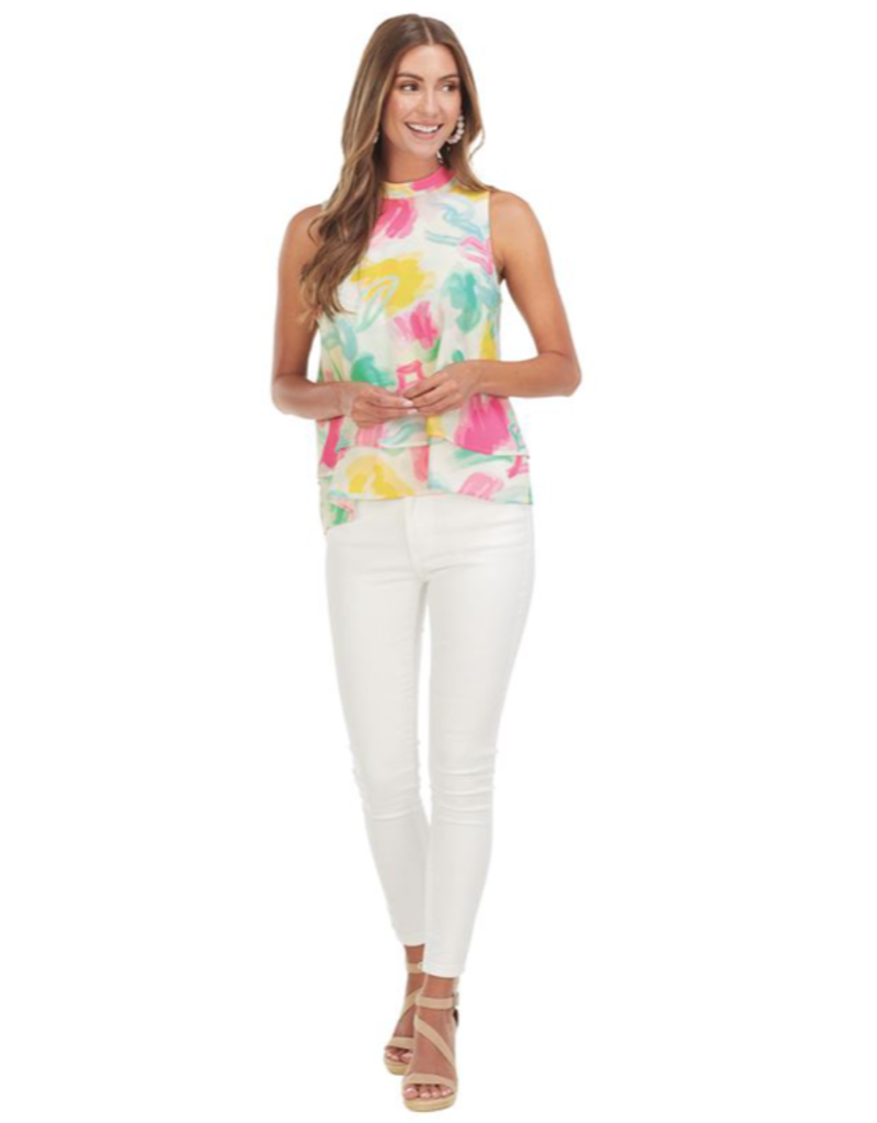 Eleanor Top Painterly Pastel - Medium