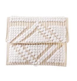 Handloom Clutch - White