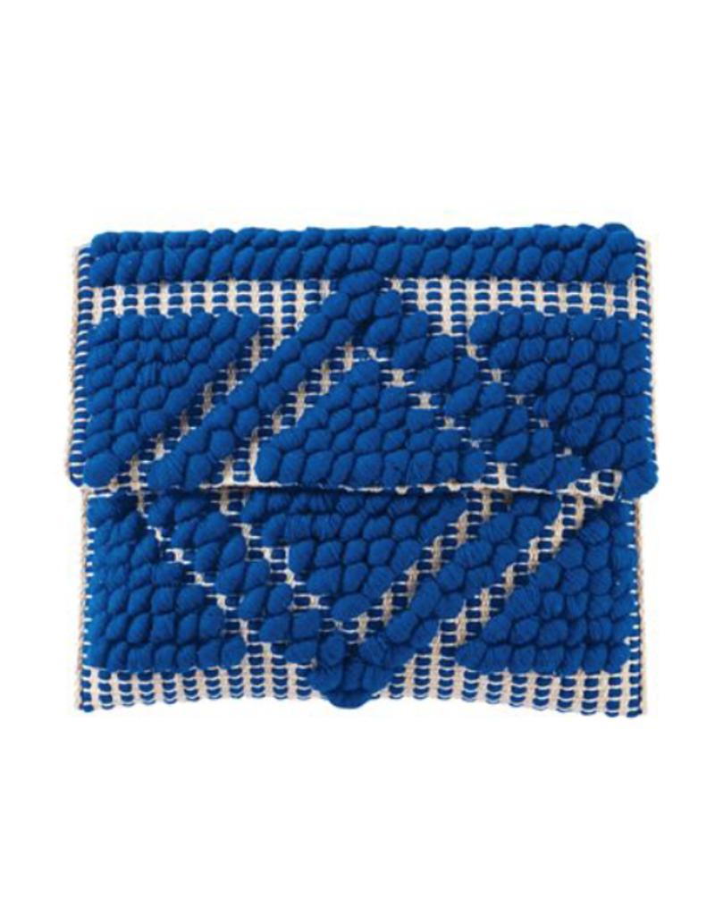 Handloom Clutch - Blue