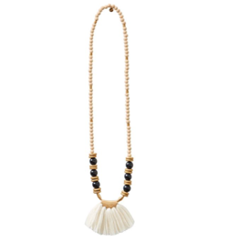 Tassel Necklace - Cream