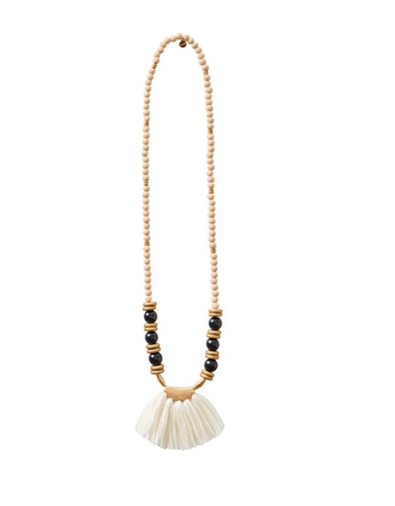 Tassel Necklace - Cream