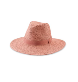 Solid Woven Fedora Dusty Rose