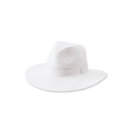 Solid Woven Fedora White